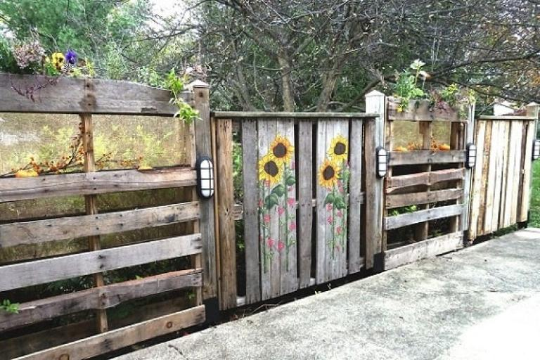 the best diy pallet garden fence ideas to improve your